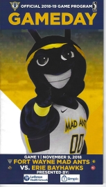 2018 2019 Mad Ants program cover